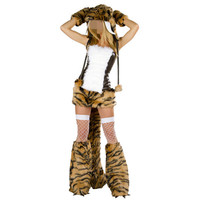 Adult Animal Onesies Fur Tiger Cosplay Women Leopard Fancy Party Dress Halloween Costumes For Women