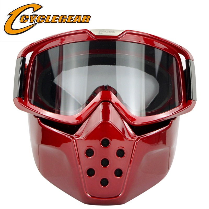 2017 New Motorcycle Helmet Vintage Motocross Goggles Anti Fog Snowmobile Goggle Retro Mask Racing Sking Glasses In From