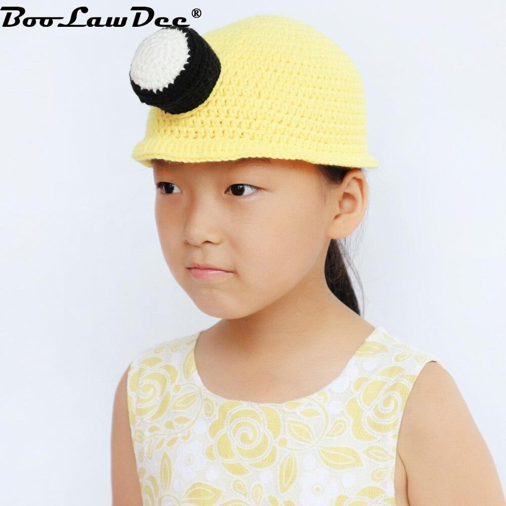 BooLawDee enfants d hiver drôle bonnets chapeau crochet fait main tricot  thermique cap pour garçon c55b54f8d7d