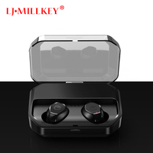 TWS V5.0 Bluetooth Earphone True Wireless 3D Sport Headphones Waterproof Stereo Earbuds With Microphone Headset LJ-MILLKEY YZ207