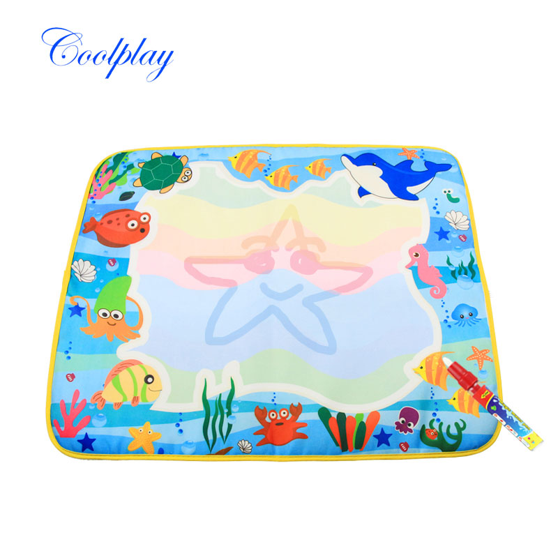 Baby's Learning Pen 60x49cm Water Drawing Mat Magic Water Pen Baby 39;s Water