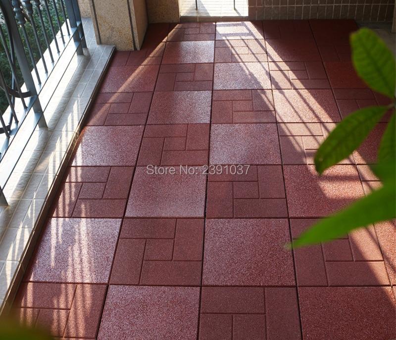 Slide Rubber Floor Tiles Ground Mat Outdoor Kindergarten School Playground, Environment Friendly, Safety, Soft Glue