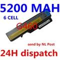 5200 mah bateria para lenovo ideapad g460 g470 g560 g570 b470 g770 G780 V300 V470 V370 Z370 Z460 Z470 Z560 Z570 B570 K47 V370P