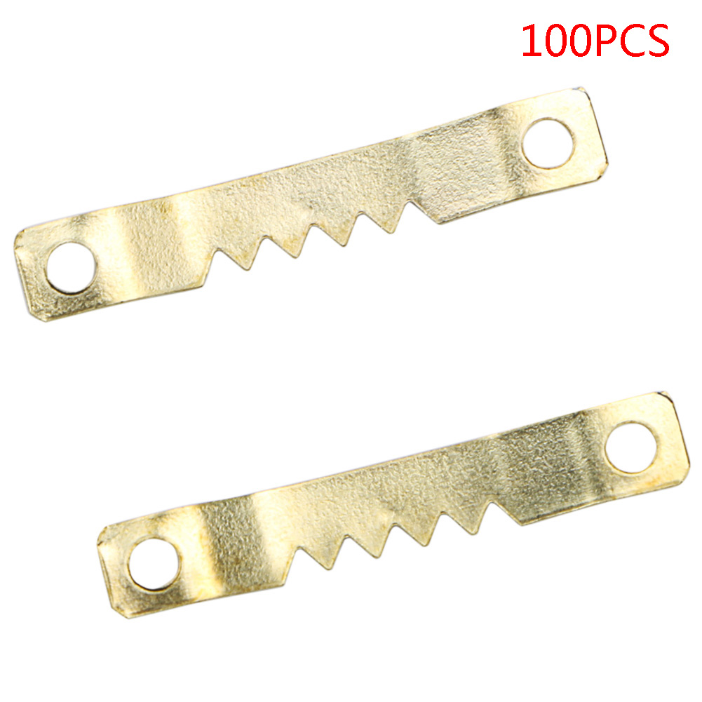 New 100PCS Two Sided Saw Tooth Hangers Nailess Clock Picture Mirror Hooks oil Painting Hanging 46 x 8mm 8 pcs space saver wonder magic clothes hangers closet organizer hooks racks new