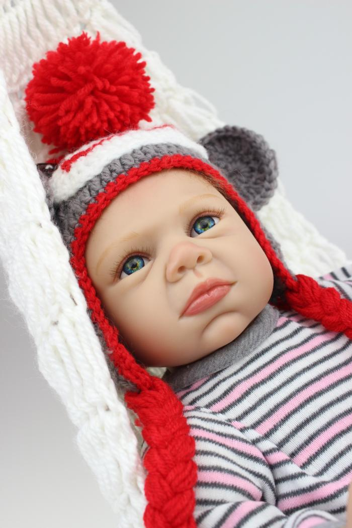купить 55cm Cute Silicone Reborn Babies Dolls Sleeping Newborn Baby Lifelike Best Baby Doll Toys Christmas Birthday Gifts Collection по цене 5955.3 рублей