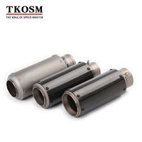 TKOSM Modified 60mm 51mm Motorcycle Titanium Alloy Carbon Fiber Exhaust Pipe Muffler Motorbike Laser Sticker S1000RR