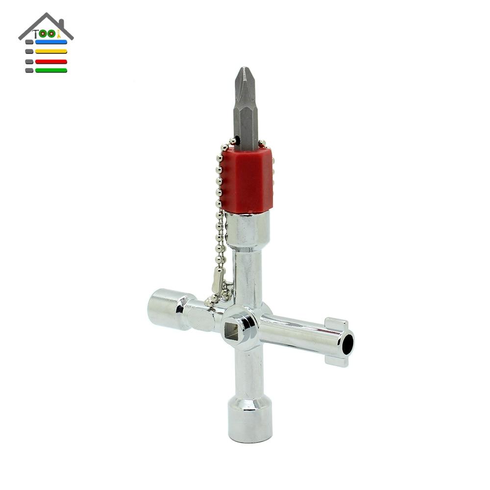 Plumbing Plumbers Tool 4 Way For Meter Box Gas Water Electric Stop Cupboards Key