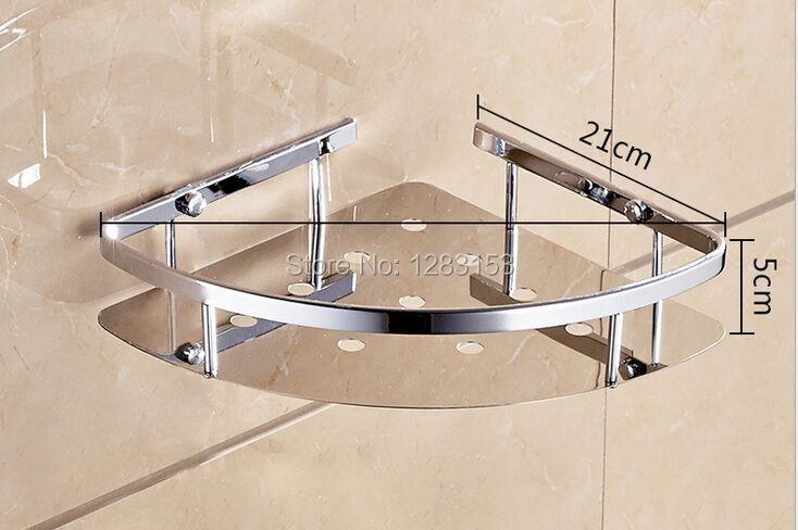 Badkamer Accessoires Rvs : Hoge kwaliteit rvs badkamer planken douche mand wc hoek opslag