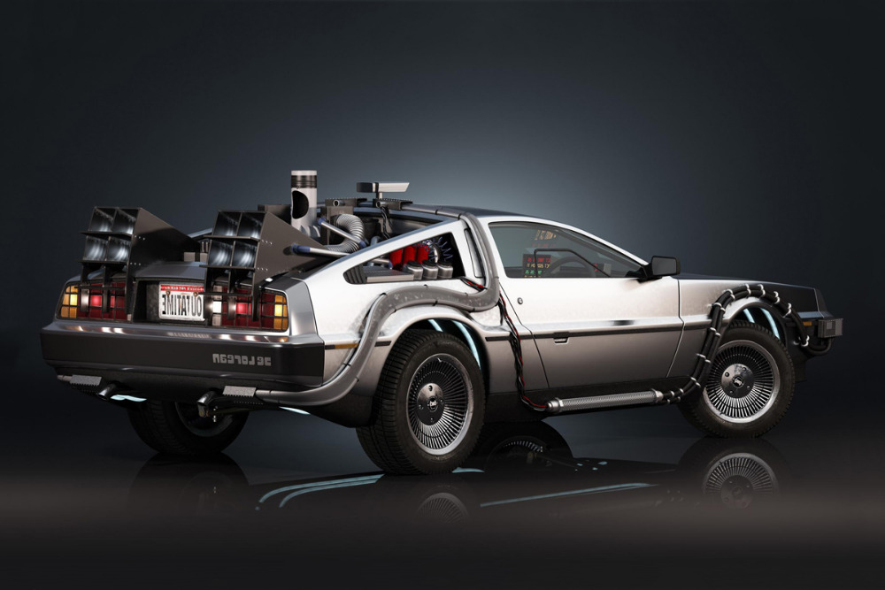 back to the future movie delorean car poster canvas printing wall artchina mainland