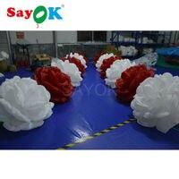5 м красный и белый светодиод надувной розы цепи для свадьбы украшения со светодиодной подсветкой Бесплатная доставка