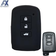AX para Toyota Camry Corolla Avalon Rav4 Land Cruiser Protector de 3 botones de silicona para llaves
