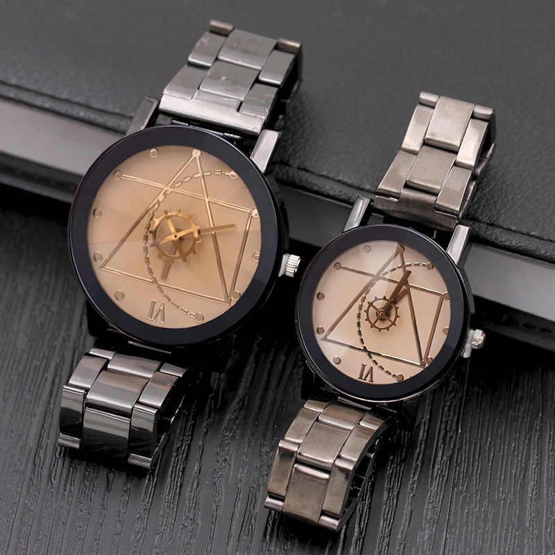 Relogio Masculino montre de Sport de mode montre hommes femmes de luxe en acier inoxydable montres à Quartz d'affaires Chasy Zhenskiye