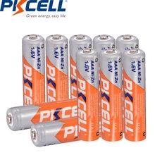 10 шт pkcell aaa батарея 16 в аккумуляторные батареи ni zn 3a