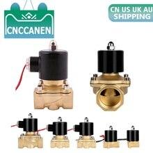 """1/"""" 1/8"""" 3/"""" 1/2"""" 3/"""" 1"""" """" 1-1/4"""" Электрический электромагнитный клапан 220 В 110 в 12 В 24 В пневматический клапан нормально закрытый N/C для водяного воздуха"""