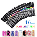 16 Colors Can Choose Nail Art Pen Painting Polish Dot Drawing UV Gel Design Manicure Acrylic Paint Tools DIY Decorations GZ001