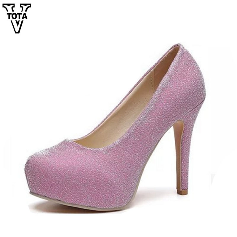 VTOTA Fashion High Heels Shoes Woman Round Toe Women Pumps Platform Shoes Zapatos Mujer Sexy Ladies Shoes Wedding Shoes Q64 2016 new fashion women pumps sexy high heels zip full genuine leather shoes woman platform ladies wedding shoes drop shipping