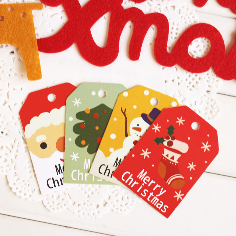 Christmas Santa Claus say hello 95pcs Oval Shape Design Paper Labels Packaging Tags Part ...