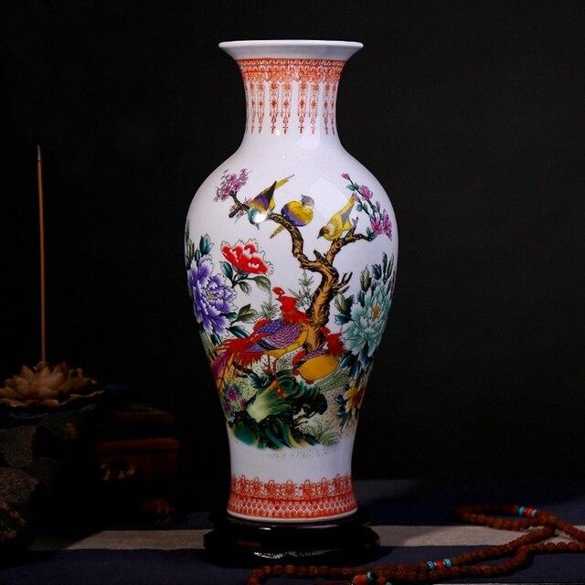 Free Shipping Jingdezhen Ceramic Vase Modern Chinese Style Lotus