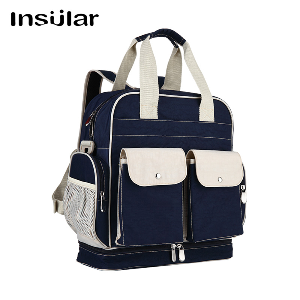 NEW INSULAR Mother Bag Baby Nappy Changing Bags Large Capacity Maternity Mummy Diaper Backpack Stroller Bag