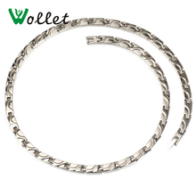 все цены на 2014 valentine gift 4 in 1 titanium negative ion infrared magnetic germanium necklace men онлайн