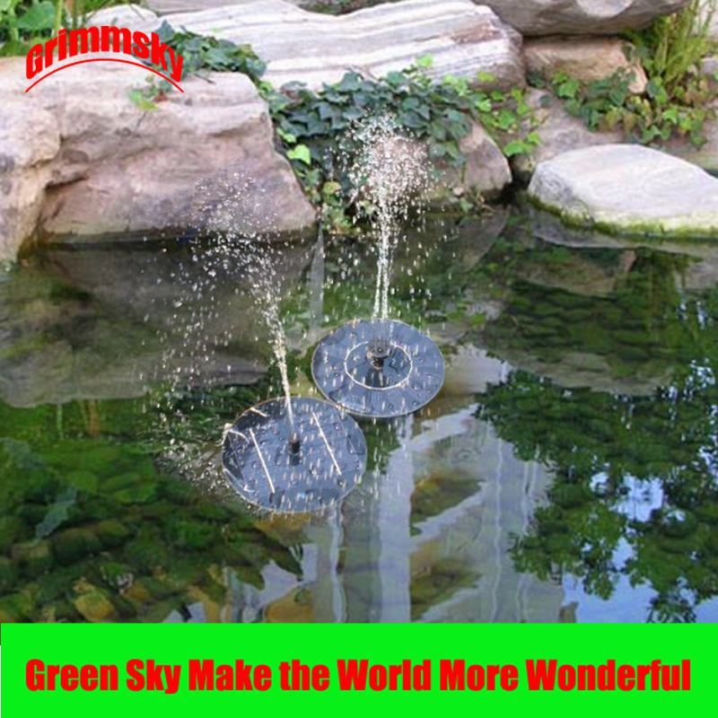 Max. 180L/H Floating Pool Pond Outdoor Solar Panel Home Garden Decoration Water Fountain Garden