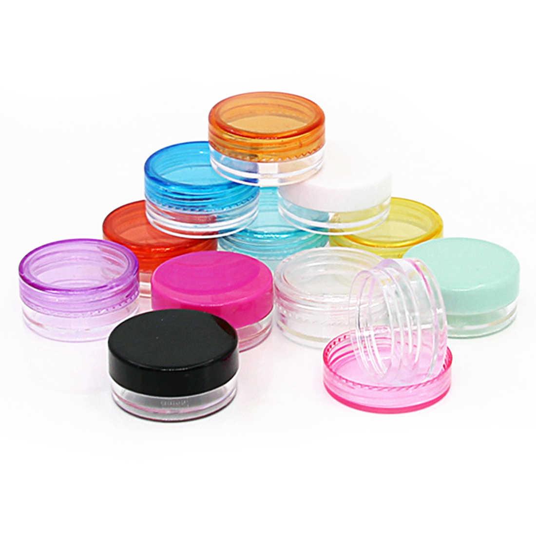 10pcs 5g Mini Refillable Bottles Cosmetic Empty Jar Acrylic Pot Eyeshadow Makeup Bottle Face Cream Box Round Container Storage