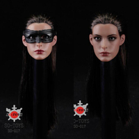 1/6 Scale Female Girl Woman Sexy Lady Head Carving Model Anne Hathaway Batman Catwoman Head Sculpt Fit F 12'' Action Figure Body