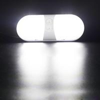 white light car Car LED Interior Dome Light Plastic White Ceiling Reading Lamp for 12V RV Boat Yacht Camper (2)