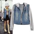 Hot 2016 New Winter Jacket Women Denim Coat Hooded Jacket Women Loose Jean Baseball Sportwear Denim Jackets Spring Women Coat $k