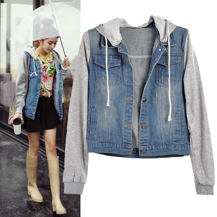 Popular Hooded Denim Jacket Womens-Buy Cheap Hooded Denim Jacket ...