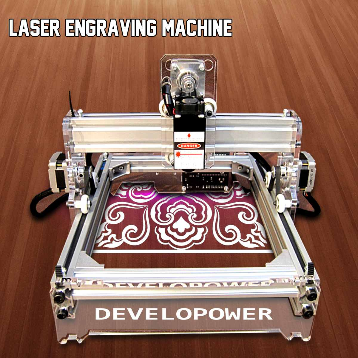 17x20cm 2000mW Desktop Engraving Printer DIY Desktop Wood Cutter CNC Wood Router Laser Engraver Cutting Machine