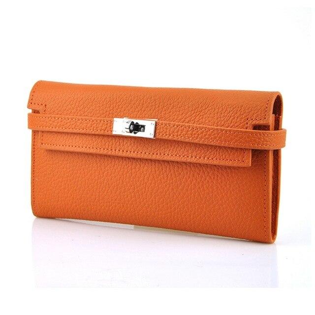 Women Genuine Leather Designer Clutch Fashion Bag Purse Lock Wallet Mobile Case Cellphone Card Holder Wedding Evening Party Lady