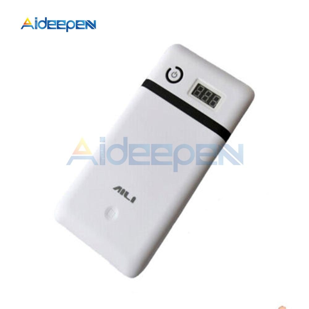 3.3A 5V 12V 19V 21V Mobile Power Bank Six 18650 Battery Charger For 19V Laptop 5V Phone Not Include Battery