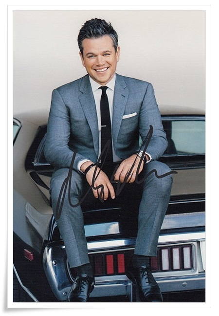 Matt Damon autographed signed photo 4*6 inches authentic freeshipping  01.2017 02 signed cnblue jung yong hwa autographed photo do disturb 4 6 inches freeshipping 072017 01
