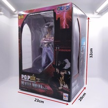 22CM Anime Action Figure ONE PIECE POP DX Dracule Mihawk Ver.2 Big Sword PVC Model Collectible Cool Kids Popular Gift Toy Doll