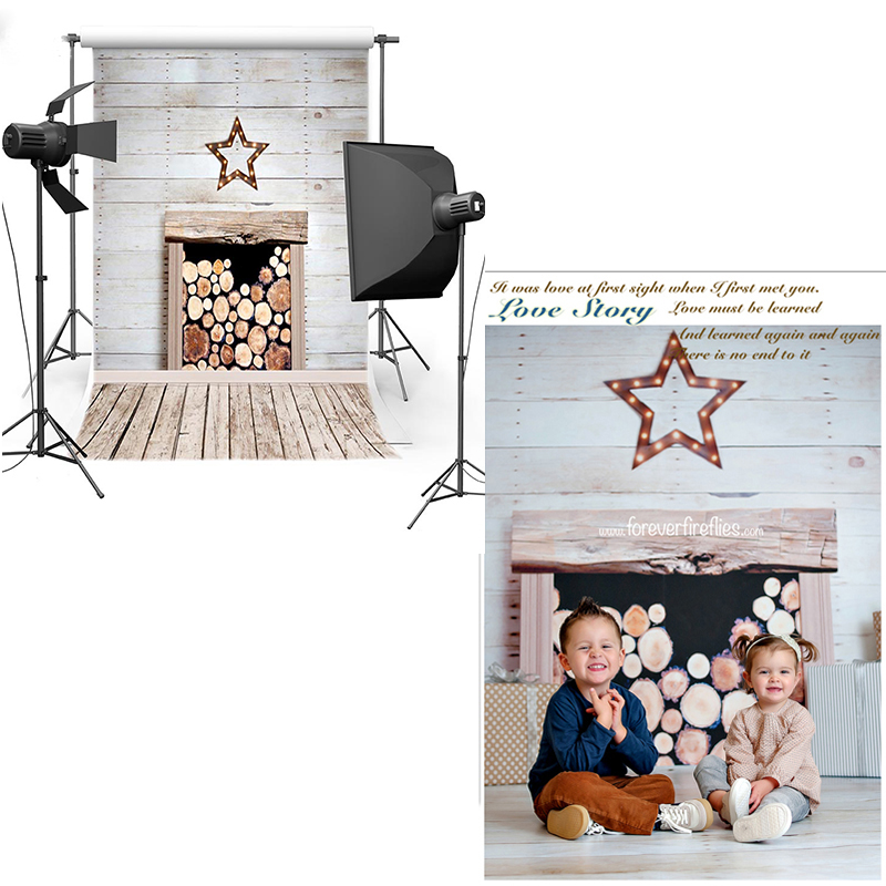 MEHOFOTO Wood Fireplace Vinyl Photography Background New Fabric Polyester Backdrop For Newborn for photographic studio 6713 mehofoto night sky vinyl photography background for newborn new material polyester backdrop for children photo studio f2743