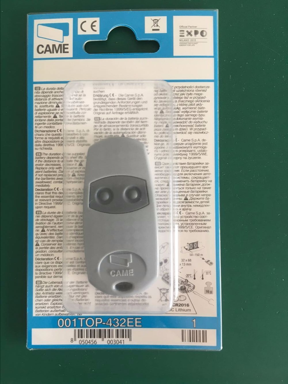 Duplicator Copy CAME <font><b>remote</b></font> <font><b>control</b></font> TOP 432EV TOP-432NA TOP432NA With Battery For Universal <font><b>Garage</b></font> <font><b>Door</b></font> Gate Key Fob 433.92 <font><b>Mhz</b></font> image