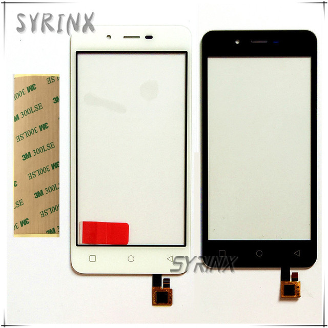 Syrinx With 3M Tape Touch Panel Sensor For Micromax Q380 Canvas Spark Q380 Touch Screen Digitizer Touchscreen Front Glass Lens