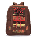 2016 Women Ethnic Backpack Student Book Bag Woman Casual Travel Rucksack Teenage Girl School Bags Vintage Suede Backpack JXY549