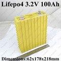 Большой 3.2 В lifepo4 100ah высокую мощность сотовый 100A 3c разряда для электромобиля EV pack diy солнечной системы хранения и т. д.