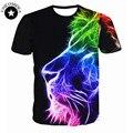 Новые моды для женщин мужчины хип-хоп футболка 3d животных печатные лев head футболка мужская 3d футболка футболка homme бренд clothing for мужчины