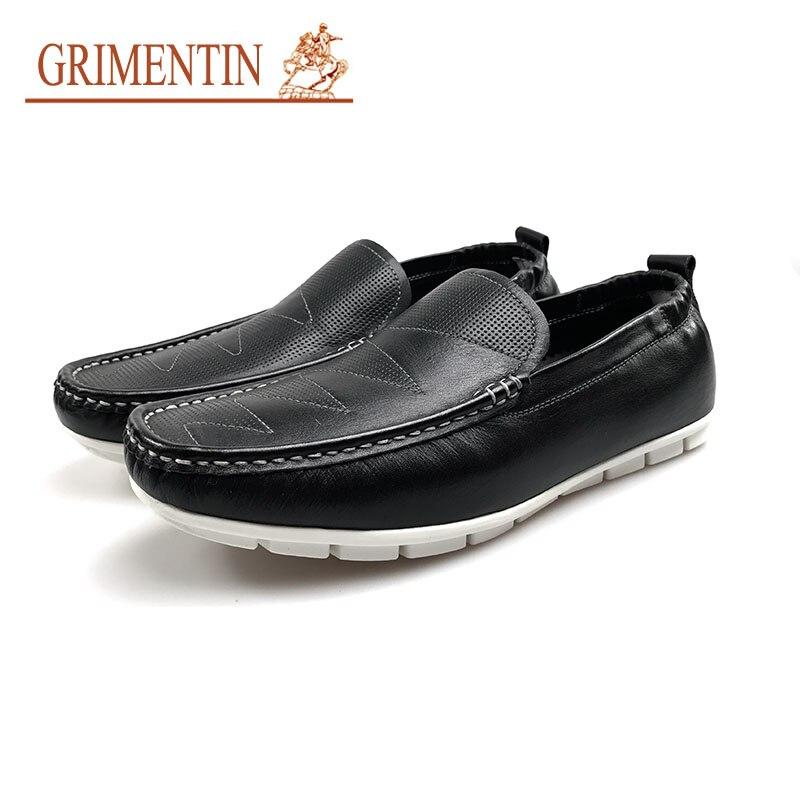 Grimentin Männer Outdoor Qualität Herren Weichen Männliche Auf Black Fashion Slip Hohe Boden Schuhe Schwarz Beiläufige rrwOqZdv
