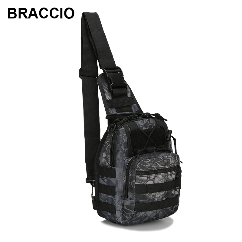 Military Bag Molle Chest Bag Waterproof Nylon Camouflage Casual Men Shoulder Crossbody Bags Multifunction Travel Sling Bags onetigris 1000d nylon shoulder bag sling pack molle handbag men s messenger edc bag for sports travel army military packs