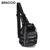 Military Molle Chest Bag Waterproof Nylon Camouflage Casual Men Shoulder Crossbody Bags Multifunction Back Pack Travel Sling Bag Shoulder Bags