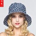2016 Nova Lady Chapéu de Sol UV Protetor Solar de Aba Larga Ao Ar Livre Dobrada viagem Chapéus de Sol 5 Cores de Verão Lazer de Praia do Sol Chapéus B-3704