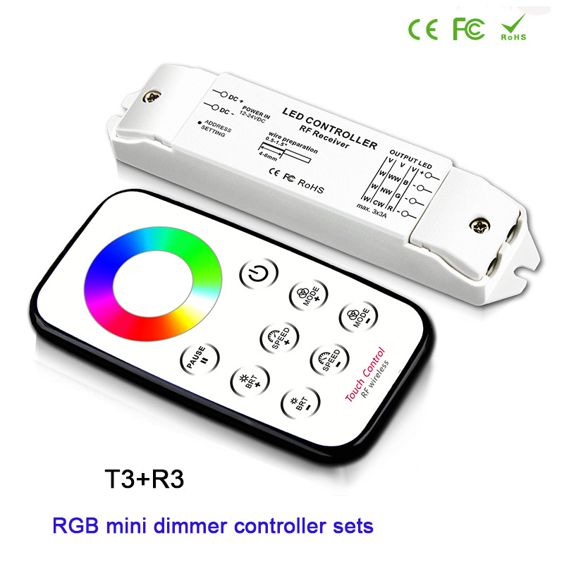 BC T1/T2/T3/T5+R3 mini RF wireless remote dimming/CCT/RGB/CW NW WW led Receiver controller for LED Strip Light lamp,DC12V-24V t1 04 jjpro t1 t2 cw motor