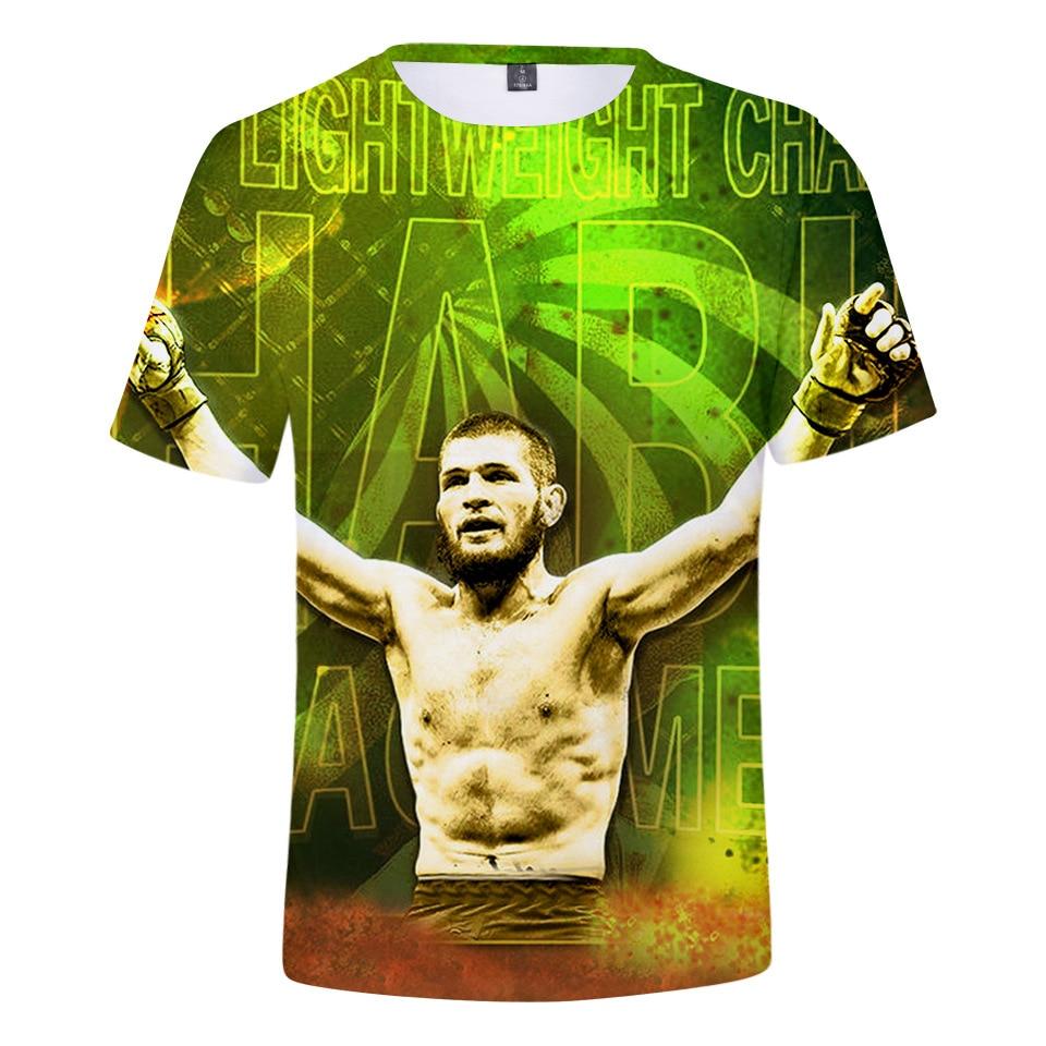 c365b64cc0f2 Khabib Nurmagomedov T camisa camisetas Top