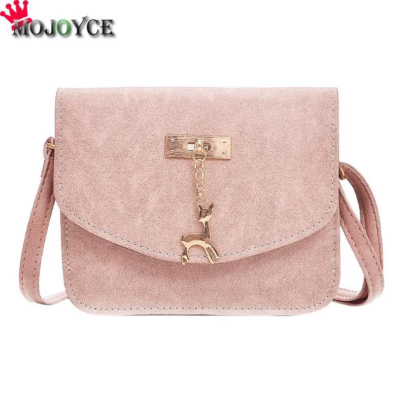 Mojoyce Винтаж Для женщин Crossbody сумка Обувь для девочек Повседневное одноцветное мини из искусственной кожи простой маленький Сумки на плечо ...