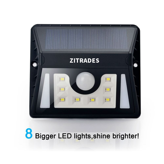 Led Solar Light Outdoor Solar 8 Led Lamp Garden Light Outdoor Lighting  Lights Waterproof Motion Sensor