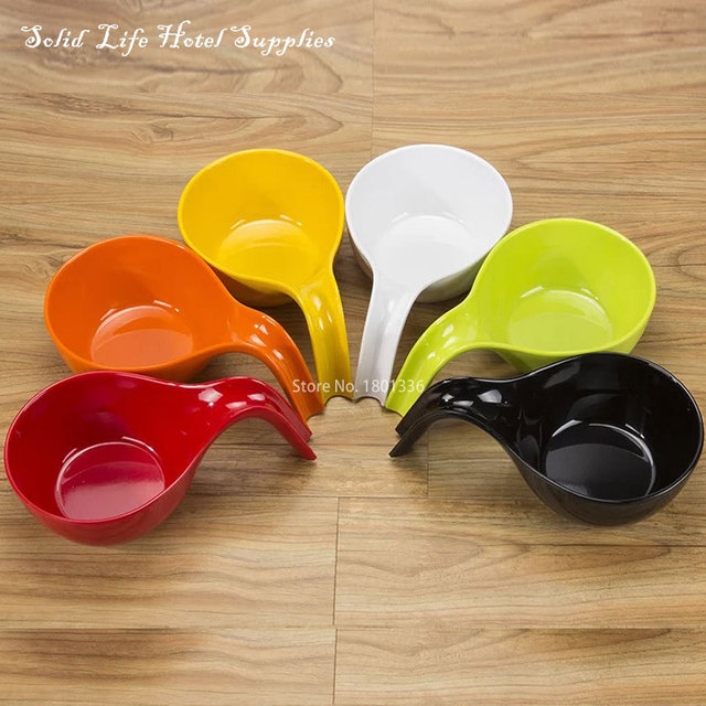 Us 17 94 High Temperature Resistant Melamine Tableware Spoon Shaped Imitation Porcelain Fruit Bowl Plastic Noodle Bowl Anna S Solid Life In Bowls